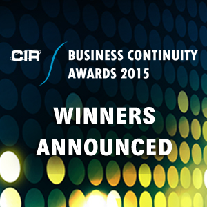 Business Continuity Awards 2015 - Winners Announced